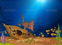 Ocean Underwater World  #GraphicRiver         Ocean Underwater World Cartoon. Coral Reef with Alga and Fish. Vector.     Created: 16June13 GraphicsFilesIncluded: JPGImage #VectorEPS Layered: Yes MinimumAdobeCSVersion: CS Tags: adorable #aquarium #art #babyish #boat #caricature #cartoon #character #cheerful #child #childhood #clip-art #cute #design #fish #friendly #fun #illustration #joy #nature #ocean #personality #sea #shark #ship #sunken #sweet #vector #wreck #young