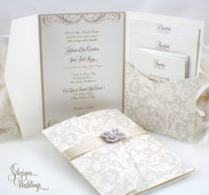 Wonderful 42 Fabulous Luxury Wedding Invitation Ideas That You Need To See Luxury Wedding Invitations, Beautiful Wedding Invitations, Vintage Wedding Invitations, Wedding Invitation Wording, Elegant Wedding Invitations, Wedding Stationary, Invitation Ideas, Invitation Templates, Antique Brooches