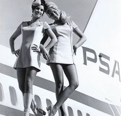 Check out these glamorous airline stewardess uniforms from years past!