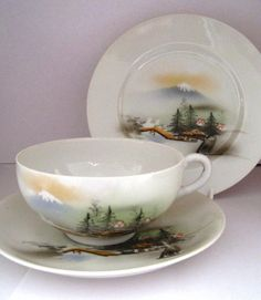 tea cup and saucer sets | Japanese Tea Cups And Saucers | Japanese Cup Saucer and Plate Tea Set ...