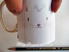 {tutorial} Canecas pintadas com caneta Sharpie. Posca, Ceramic Art, Blog, Mugs, Tableware, Diy, Sharpie Pens, Hand Painted Mugs, Vases