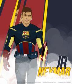 Captain Barcelona - Neymar Vector ART on Behance
