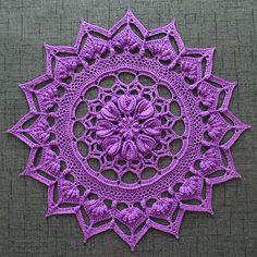 Harper Doily By Grace Fearon - Purchased Crochet Pattern - (ravelry) Col Crochet, Crochet Art, Crochet Home, Thread Crochet, Crochet Motif, Crochet Doilies, Crochet Flowers, Crochet Stitches, Crochet Coaster