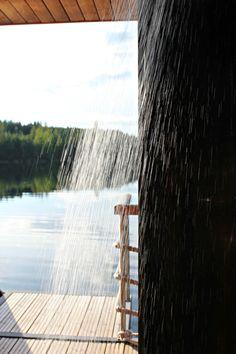 Finnish sauna and summer