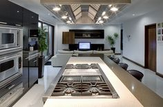 Korean House: Modern Homes Design Inspiration The Cubo House-Kitchen-living room