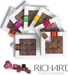 RICHART Chocolates from France - one of the best and most expensive #chocolates on the planet #richart #magnifique Soon at BERNARD NOIR in Vancouver, British Columbia
