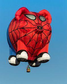 Balloon Fest - Albuquerque New Mexico Spider man pig Balloon