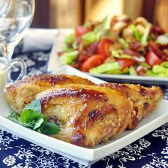 Honey Dijon Glazed Chicken Breasts - so simple and delicious! Borrowing from the success of our very popular Honey Soy Chicken Breasts, I'm pretty sure this simply marinated and roasted chicken will be a hit too. It sure does look good, doesn't it?