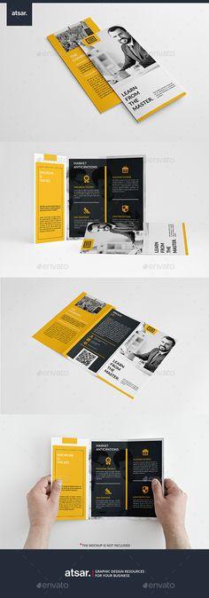 Modern Yellow Trifold Brochure Template #design Download: http://graphicriver.net/item/modern-yellow-trifold/12803861?ref=ksioks
