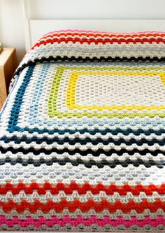 Giant, Giant Granny Square Blanket - Knitting Crochet Sewing Crafts Patterns and Ideas! - the purl bee
