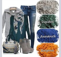 SWOON! I love fall! Adorable outfit paired with our eye pigments.