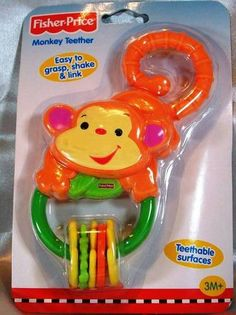 FISHER PRICE RAINFOREST MONKEY TEETHER - HAVE