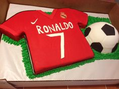 Real Madrid Soccer cake - Made for my cousin's son. His mother gave me a pic of what they wanted.
