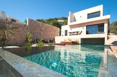 Luxury villa in the exclusive Cap Martinet, Ibiza #architecture #villa #luxury