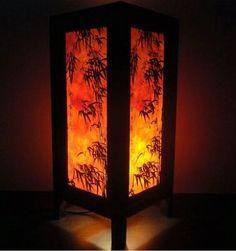Amazon.com - Thai Vintage DIY Handmade ASIAN Oriental Dawning Sunset Japanese Art Bedside Table Light Paper Lamp Shades Home Bedroom Garden...