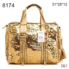 ……❤❤❤……  Michael Kors Removed Strap Paillette Tote Gloden Golden Hardware ,♥…♥…♥ .. ▫◈▣◐◑‡➹