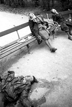 A member of the Gestapo killed himself and his family rather than fall into enemy hands in Vienna, 1945