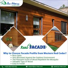 Have an evenly smooth and excellent finished decking surface with Western Red Cedar Decking from Au-Mex. Cedar Deck, Western Red Cedar, Types Of Wood, Facade, Shed, Surface, Smooth, Outdoor Structures