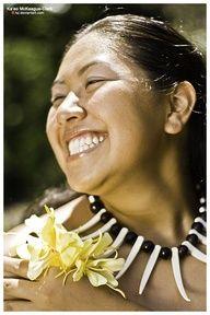 Samoan cheesy smile