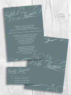Lovely Script printable wedding invitation