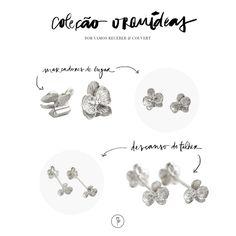 Marcadores de lugar e descansos de talher em prata da marca Couvert, da Coleção Orquídeas para decorar uma mesa funcional e delicada!
