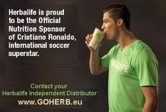 Herbalife becomes Official Nutrition Sponsor of soccer superstar, Cristiano Ronaldo www.goherb.eu