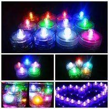 12/24/36 Luces LED sumergibles a prueba de agua Luz de Té Fiesta Boda Decoración Floral