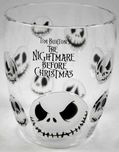 Nightmare Before Christmas Jack Face Plastic Cup
