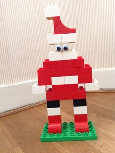 Santa Claus Duplo with googly eyes