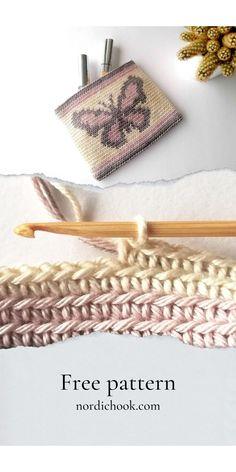 Tapestry Crochet Patterns, Crochet Motif, Crochet Hooks, Crochet Drawstring Bag, Crochet Pouch, Bag Pattern Free, Pouch Pattern, Modern Crochet, Vintage Crochet
