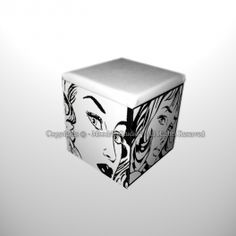 Pouf Roy Lichtenstein pop art dipinto a mano Roy Lichtenstein Pop Art, Art Pop, Container, The Originals, Pop Art