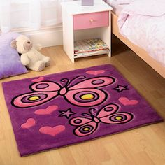 Butterfly Purple Rug