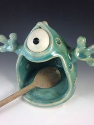 ceramic monster. No idea why i like this so much, but I think it's stinkin' cute!