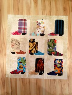 cowboy boot quilt pattern | noelle o designs