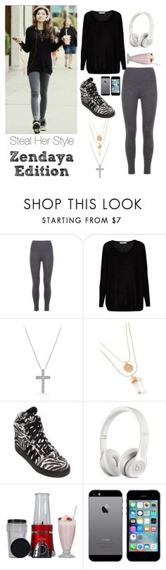 """""""Steal Her Style: Zendaya Edition"""" by donimite ❤ liked on Polyvore featuring Century Seven, David Yurman, Forever 21 and adidas"""
