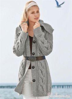 Очень красивая вязаная куртка