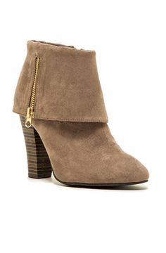 Madge Fold Over Ankle Booties - Taupe RESTOCK ARRIVES NOVEMBER!   Daily Chic