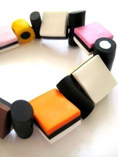 licorice allsorts  bracelet--- LOVE allsorts