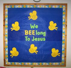 christian bulletin boards for kids | For this bulletin board we used our cricuts to cut out the letters ...