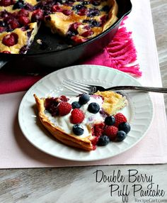 Double Berry Puff Pancake