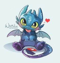 Drooling baby Toothless ❤️ Who wants to adopt this lovely dragon? Cute Disney Drawings, Cute Cartoon Drawings, Cute Animal Drawings, Kawaii Drawings, Drawing Disney, Cute Toothless, Toothless Drawing, Toothless And Stitch, Toothless Dragon Tattoo