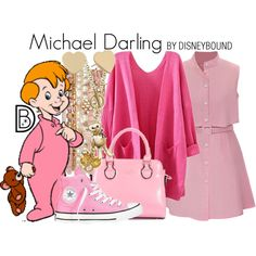 Michael Darling by leslieakay on Polyvore featuring Converse, Accessorize, Kate Spade, disney, peterpan, disneybound and disneycharacter