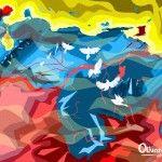 Mapa de Venezuela, por el artista venezolano Oscar Olivares