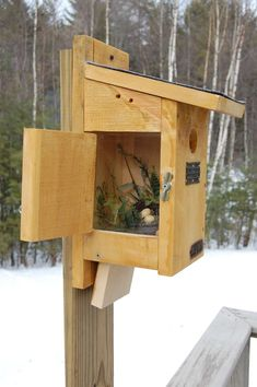 Bird House Plans 785948572452042302 - bluebird house with sideview. Source by Bird Feeder Plans, Bird House Feeder, Diy Bird Feeder, Garden Projects, Wood Projects, Carpentry Projects, Carpentry Skills, Bluebird House Plans, Bat House Plans