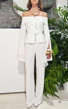 Bare Shoulder Jacket by CARLA ZAMPATTI for Preorder on Moda Operandi