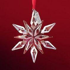 Mikasa 2015 Annual Amber Crystal Snowflake Ornament - 1st Edition