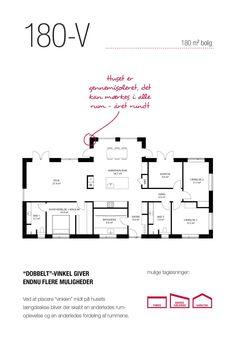 Vinkelhuset er ideelt til familien // Lasse Larsen Huse Good House, Architecture Plan, Exterior Design, Layout Design, House Plans, Sweet Home, New Homes, Floor Plans, Houses