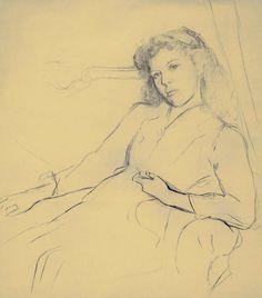 Balthus:   Antoinette, his future wife   -   (1930s)