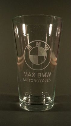 Costom logo engraved on a pint glass, everything we engrave is done by hand one at a time in the USA Engraved Beer Mugs, Pint Glass, Logo, Usa, Glasses, Tableware, Eyewear, Logos, Eyeglasses