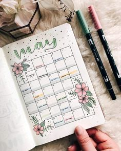 May Bullet Journal Themes - 30 Ideas to Inspire You May is upon us! Are you looking for your next May Bullet Journal theme? You've come to the right place. Check out these 30 incredible May Bullet Journals! Bullet Journal Writing, Bullet Journal Monthly Spread, Bullet Journal Headers, Bullet Journal School, Bullet Journal Aesthetic, Bullet Journal Notebook, Bullet Journal Ideas Pages, Bullet Journal Inspo, Bullet Journals